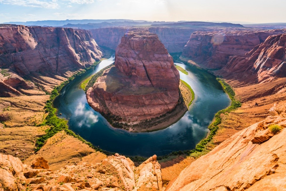 the stunningly beautiful Horseshoe bend in Page, Arizona