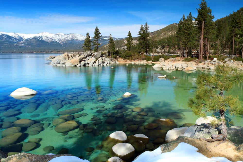 Crystal clear Lake Tahoe in Nevada
