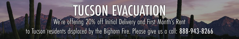 Tucson Evacuation Storage Bighorn Fire Storage